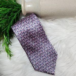 Stonehenge Tie | pink | purple | 100% silk